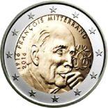 Francia - 2 Euro conmemorativa 2016 de François Mitterand