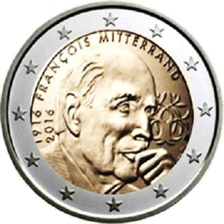 Frankreich - 2 Euro Gedächtnis- 2016 Francois Mitterand