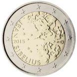 Finlandia - 2 Euro conmemorativa 2015 de Jean Sibelius