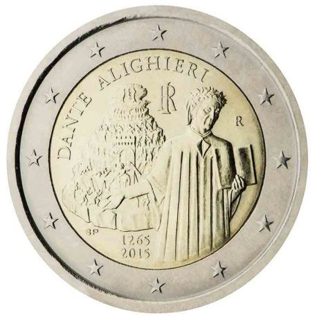 Italia - 2 Euro conmemorativa 2015 de Dante Alighieri