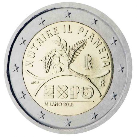 Italy - 2 Euro commemorative 2015 EXHIBITION Milano 2015