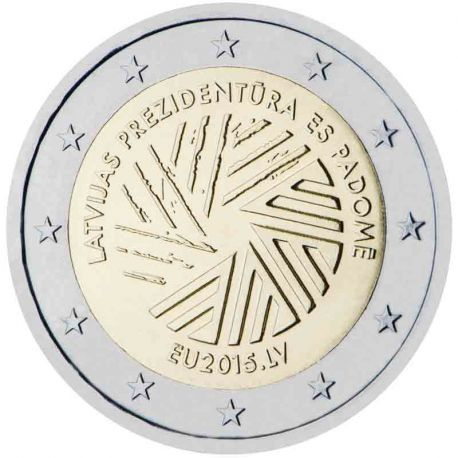 Lettonia - 2 euro commemorativa 2015 presidenza lettone