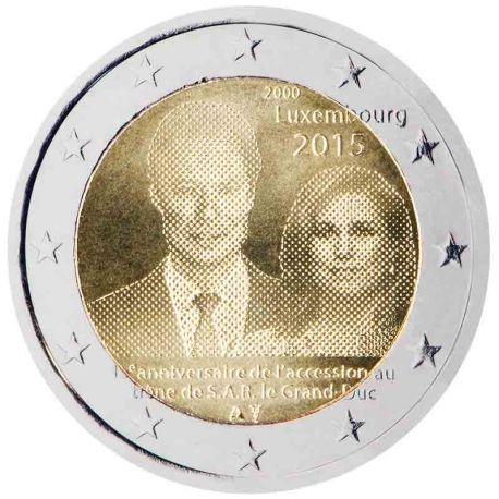 Luxembourg - 2 Euro commemorative 2015 Advent with the throne of S.A.R the Grand duke