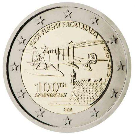 Malta - 2 Euro Gedächtnis- 2015 Flug ab Malta