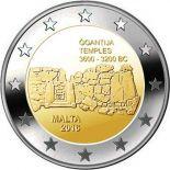 Malta - 2 Euro conmemorativa 2016 de Templos de Ggantija