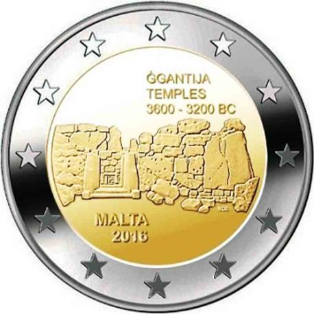 Malte - 2 Euro commémorative 2016 Temples de Ggantija