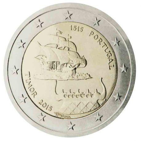 Portogallo - 2 euro commemorativa 2015 primi contatti con il Timor