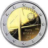Portugal - 2 Euro conmemorativa 2016 de Puente del 25 de abril