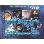 Bloc de 4 timbres Galilée du Togo
