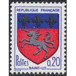 France N° 1510e Variété Lys noirs neuf sans charnière