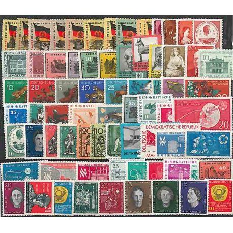 DDR 1959 Année complète en timbres neufs