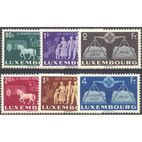 Timbre collection Luxembourg N° Yvert et Tellier 443/448 Neuf avec charnière