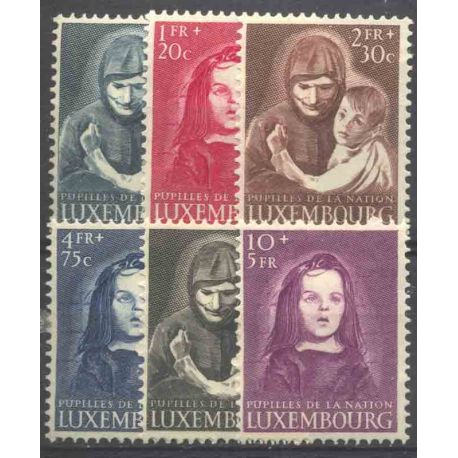 Timbre collection Luxembourg N° Yvert et Tellier 433/438 Neuf avec charnière