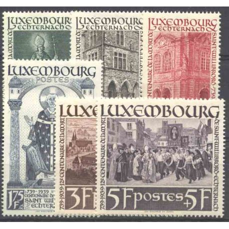 Timbre collection Luxembourg N° Yvert et Tellier 300/305 Neuf avec charnière
