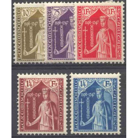 Timbre collection Luxembourg N° Yvert et Tellier 239/243 Neuf avec charnière