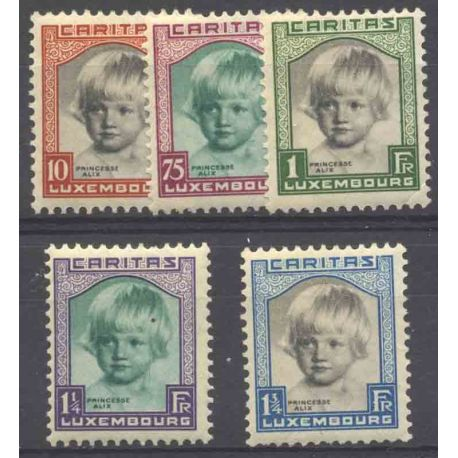 Timbre collection Luxembourg N° Yvert et Tellier 234/238 Neuf avec charnière