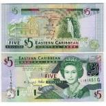 Collection of Banknote Caribbean Eastern States Pick number 42 - 5 Dollar 2003