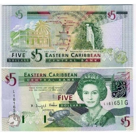 Eastern Caribbean states - Pk No. 42 - Tickets $ 5