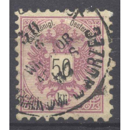 Briefmarke Sammlung Österreich N° Yvert und Tellier 45 gestempelt