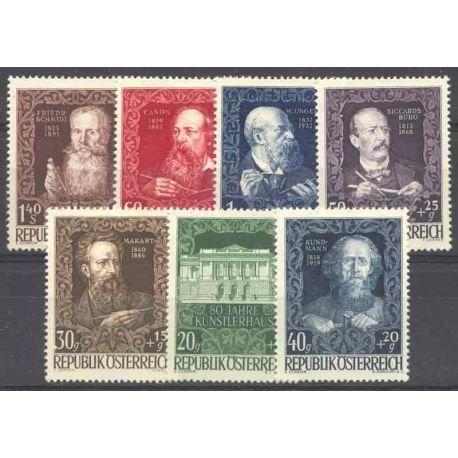 Briefmarke Sammlung Österreich N° Yvert und Tellier 732/738 neun mit Scharnier