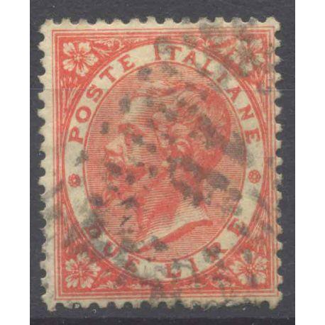 Francobollo collezione Italia N° Yvert e Tellier 21 cancellati