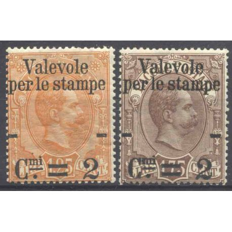 Sello colección Italia N° Yvert y Tellier 50/51 Nueve con bisagra