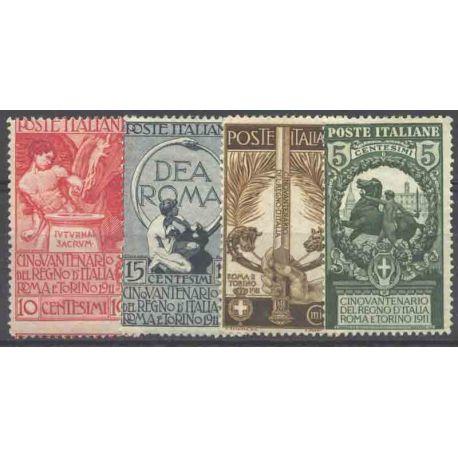 Sello colección Italia N° Yvert y Tellier 88/91 Nueve con bisagra