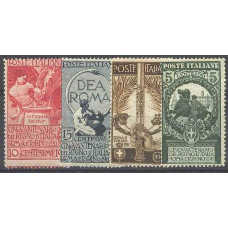 Timbre collection Italie N° Yvert et Tellier 88/91 Neuf avec charnière