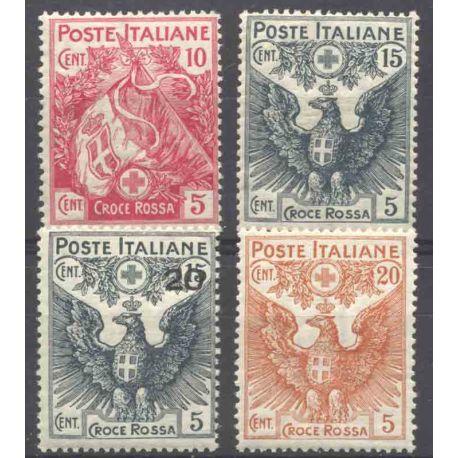 Francobollo collezione Italia N° Yvert e Tellier 98/101 nove con cerniera