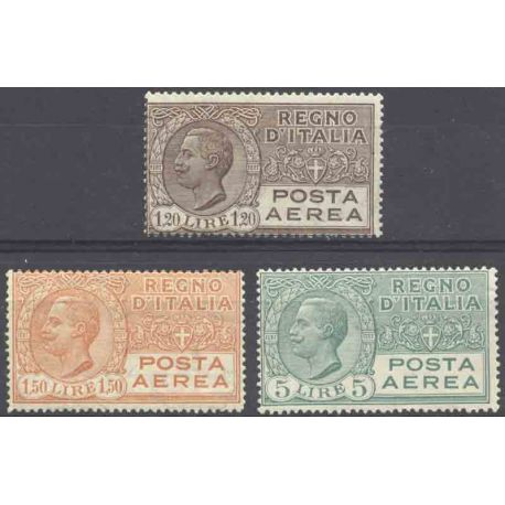 Francobollo collezione Italia N° Yvert e Tellier PA 7/9 nove con cerniera