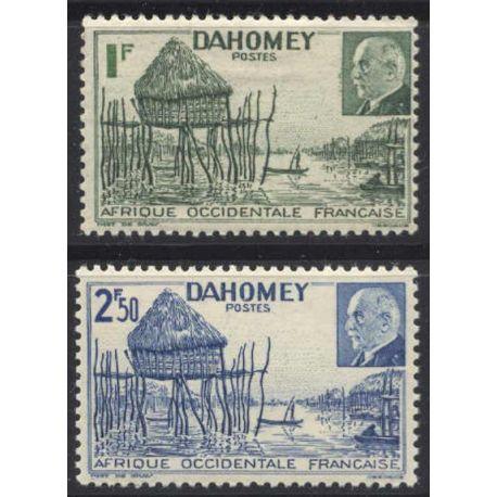 Francobollo collezione Dahomey N° Yvert e Tellier 149/150 nove senza cerniera