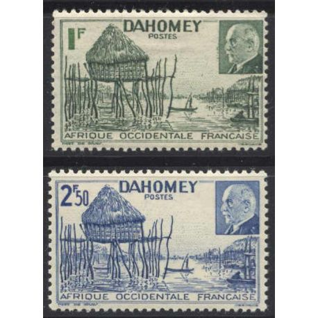 Timbre collection Dahomey N° Yvert et Tellier 149/150 Neuf sans charnière