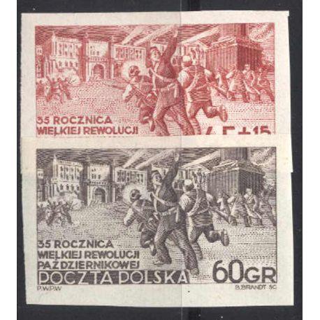 Francobollo collezione Polonia N° Yvert e Tellier 685/686 nove con cerniera