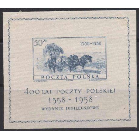 Francobollo collezione Polonia N° Yvert e Tellier BF 22 nove con cerniera