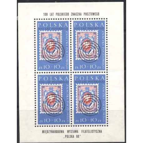 Timbre collection Pologne N° Yvert et Tellier BF 24 Neuf avec charnière