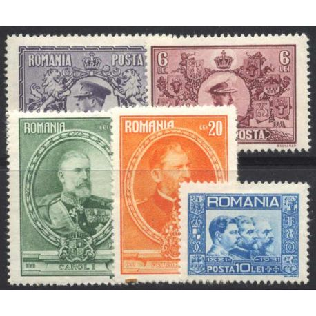 Timbre collection Roumanie N° Yvert et Tellier 406/410 Neuf avec charnière