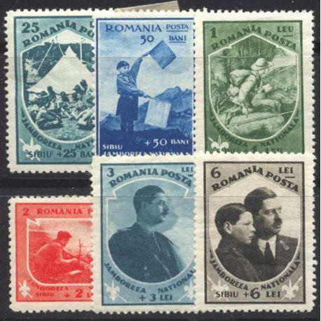 Sello colección Rumania N° Yvert y Tellier 440/445 Nueve con bisagra