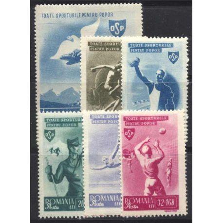 Francobollo collezione Romania N° Yvert e Tellier 843/848 nove con cerniera