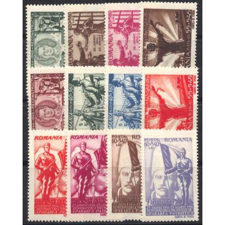 Briefmarke Sammlung Rumänien N° Yvert und Tellier 854/865 neun mit Scharnier
