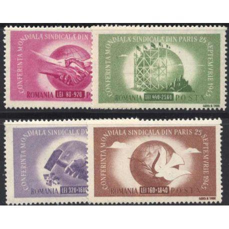 Francobollo collezione Romania N° Yvert e Tellier 882/885 nove con cerniera