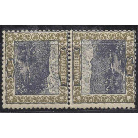 Timbre collection Sarre N° Yvert et Tellier 53c Neuf avec charnière