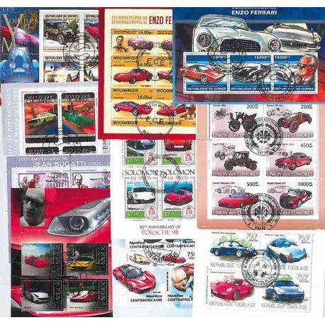Collection Timbres Autos-motos 10 blocs modernes oblitérés sur le théme des Voitures de reve à partir de 7,50 €