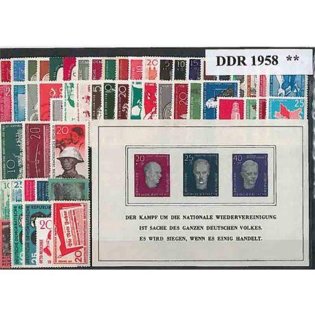 Francobolli nuovo non linguellato Anno completo 1960 della Germania GDR