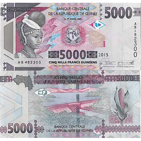 Billets de collection Billet de banque collection Guinee Francaise - PK N° 49 - 5 000 Francs Billets de Guinée Française 6,00 €