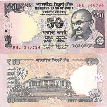 Billets de collection Billet de banque collection Inde - PK N° 103 - 50 Rupee Billets d'Inde 2,00 €