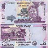 Billet de banque collection Malawi - PK N° 63 - 20 Kwacha