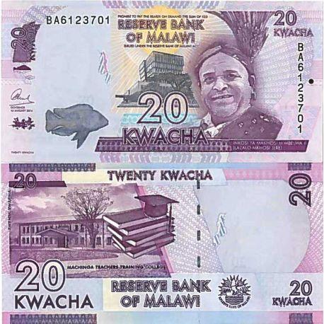 Billets de collection Billet de banque collection Malawi - PK N° 63 - 20 Kwacha Billets du Malawi 1,00 €