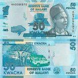 Billete de banco colección Malaui - PK N° 64 - 50 Kwacha