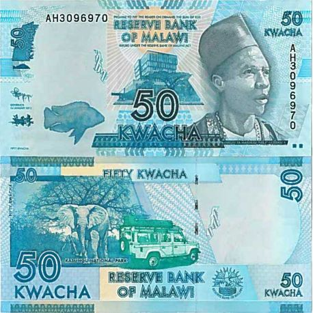 Billets de collection Billet de banque collection Malawi - PK N° 64 - 50 Kwacha Billets du Malawi 1,00 €