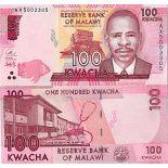 Billete de banco colección Malaui - PK N° 65 - 100 Kwacha